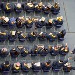 bio sciences graduates at nau commencement in flagstaff