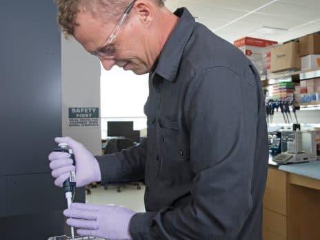 NAU's Dr. Schwartz pipetting