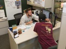 nau advisor working with a student