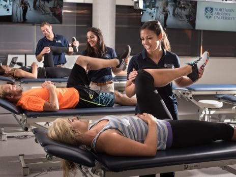 physical therapy students learn techniques