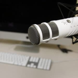 Production Studio microphone close up