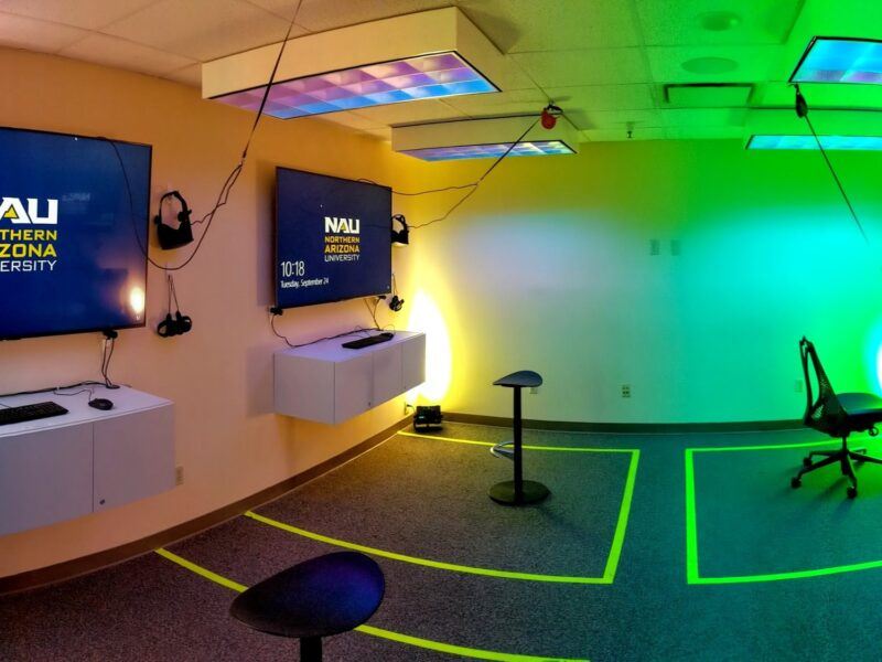 Interior of the Cline Library Virtual Reality Studio