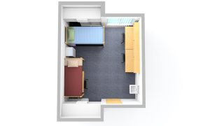 Sechrist Triple Room - top view