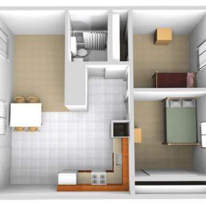 South-Village Floorplan-B-Top-View-family