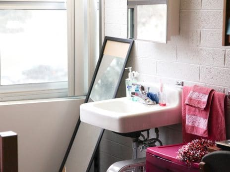 reilly female traditional room sink and mirror