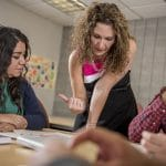 nau students receive tutoring from an instructor