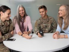 military students and psychology professors testing app