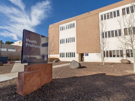 The Health Professions building on the NAU Flagstaff Campus