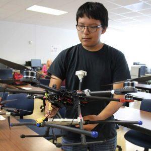 Upward Bound at College of Engineering lab