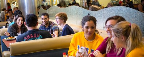 NAU students eat lunch in the Hot Spot