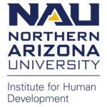 The NAU-IHd logo consists of the words Institute for Human Devlopment below Northern Arizona University with the letters N A U on top.
