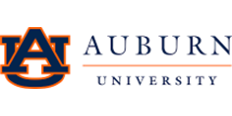 The Auburn University logo consist of an A on top of the letter U with Auburn and University separated by a line to the right.