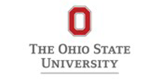 The Ohio State University logo consists as a large red letter O with The Ohio State University written underneath the letter.