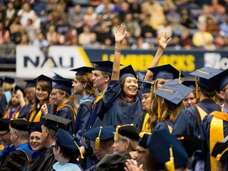 nau students celebrate at graduation