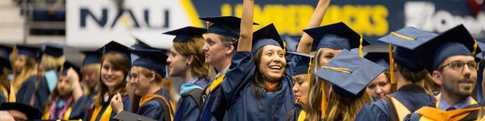nau students celebrating at graduation