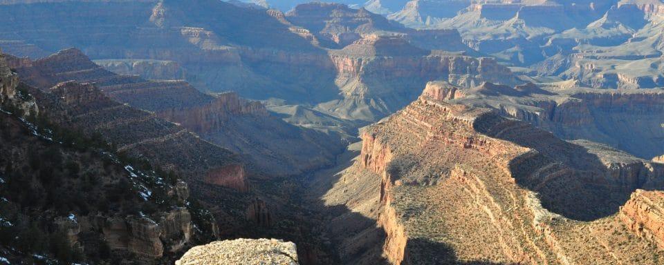 nau students study at the grand canyon