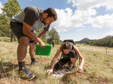 nau ses undergraduates study in a field