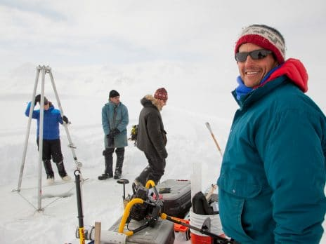 nau students conducting research in the snow