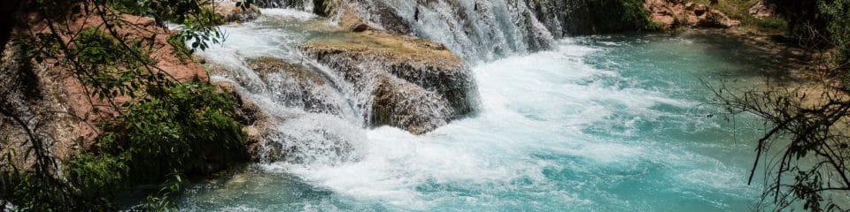 nau ses students study surface processes near waterfall