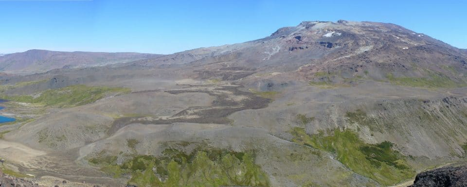 volcano being studied by nau students