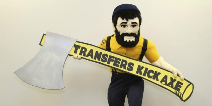 Louie with Transfers Kick Axe sign