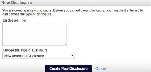 Submit a new disclosure