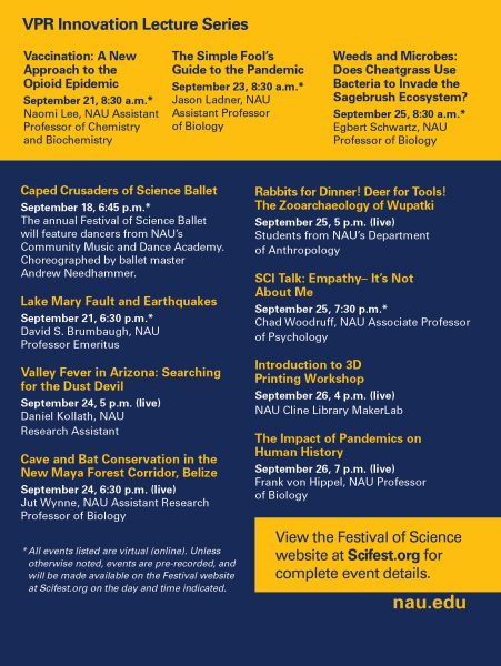 Flagstaff Festival of Science events