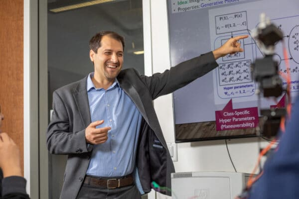 Abolfazl Razi teaching students