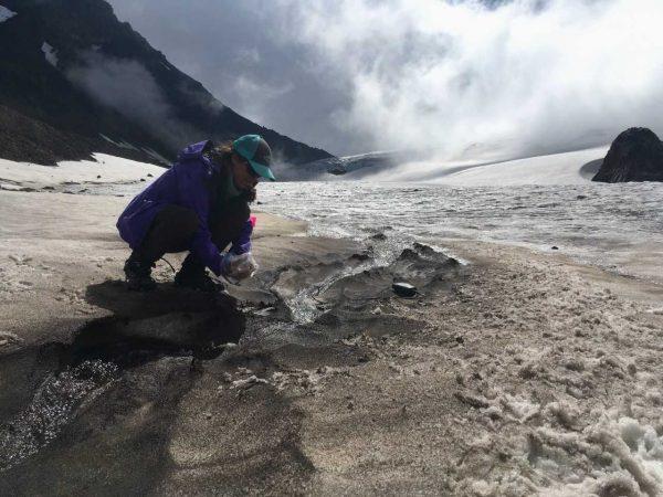 Alicia Rutledge at a glacier