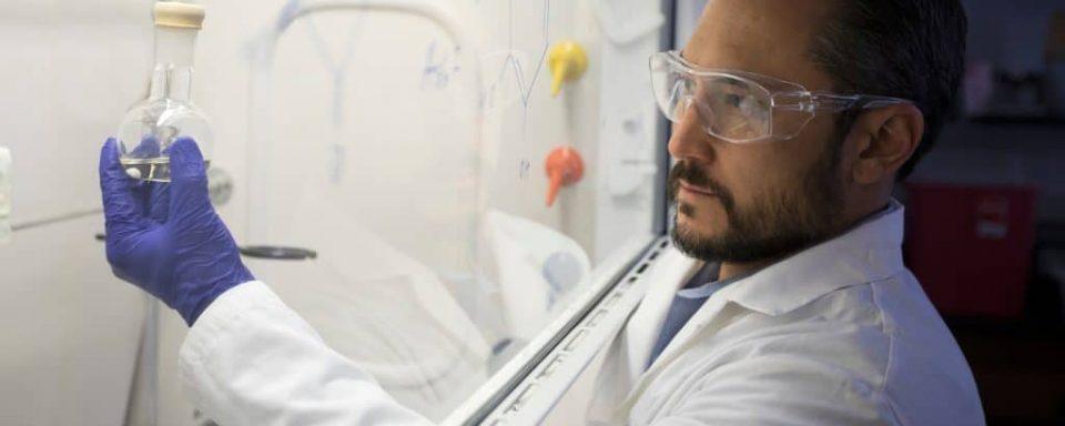 Rob Kellar working in his lab.