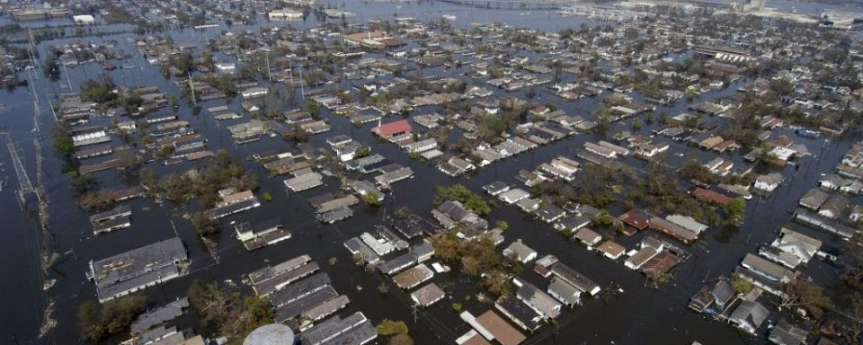 New Orleans flooded after hurricane