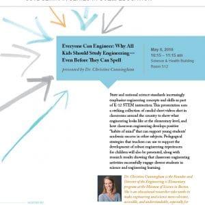 STEM Eduation Seminar with Dr. Christine Cunningham