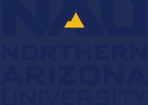 Northern Arizona University Primary Logo, Blue Text, Gold Mountain