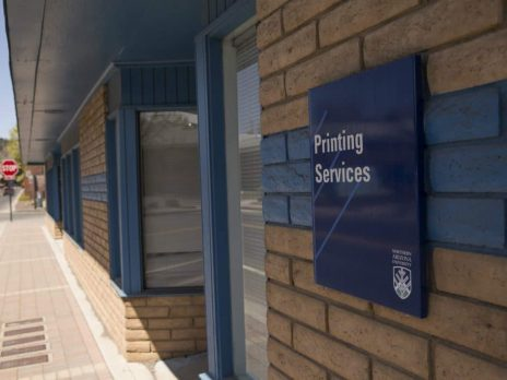 the exterior of the Printing Services building